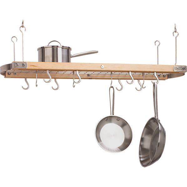 Large Maple Ceiling Pot Rack
