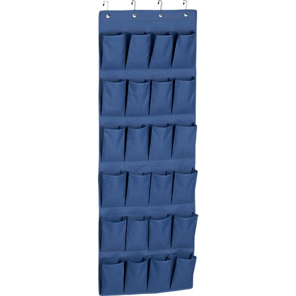 Over The Door Blue Shoe Bag