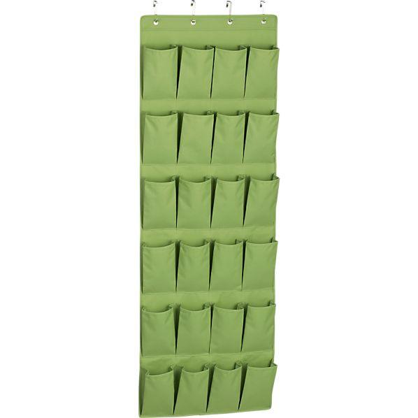 Over The Door Green Shoe Bag