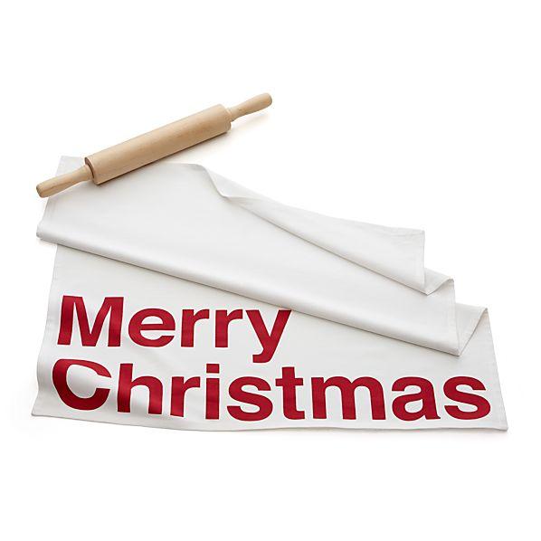 Merry Christmas Floursack Dishtowel
