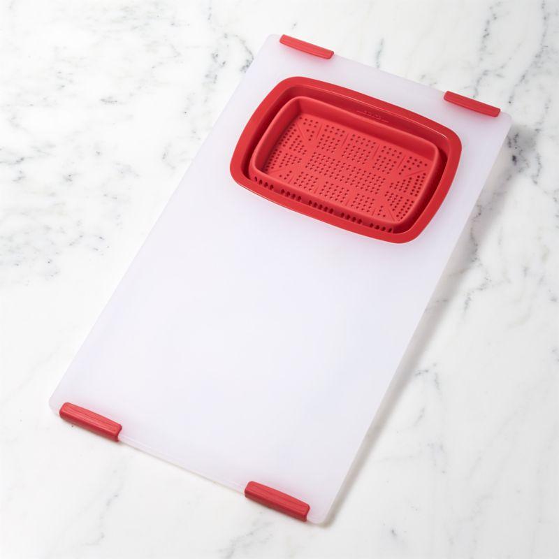 Over-the-Sink Red Board-Colander