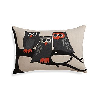 "Owl 20""x13"" Halloween Pillow with Down-Alternative Insert"