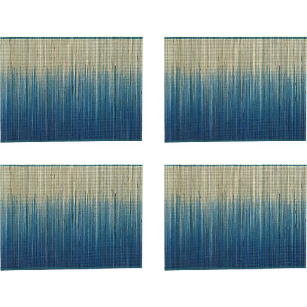 Set of 4 Oxley Blue Placemats
