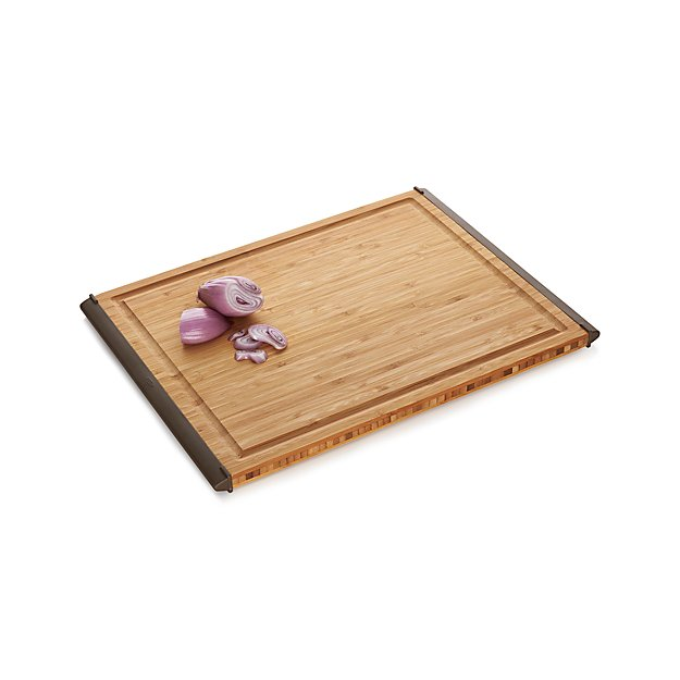 OXO Nonslip Bamboo Large Cutting Board Crate and Barrel