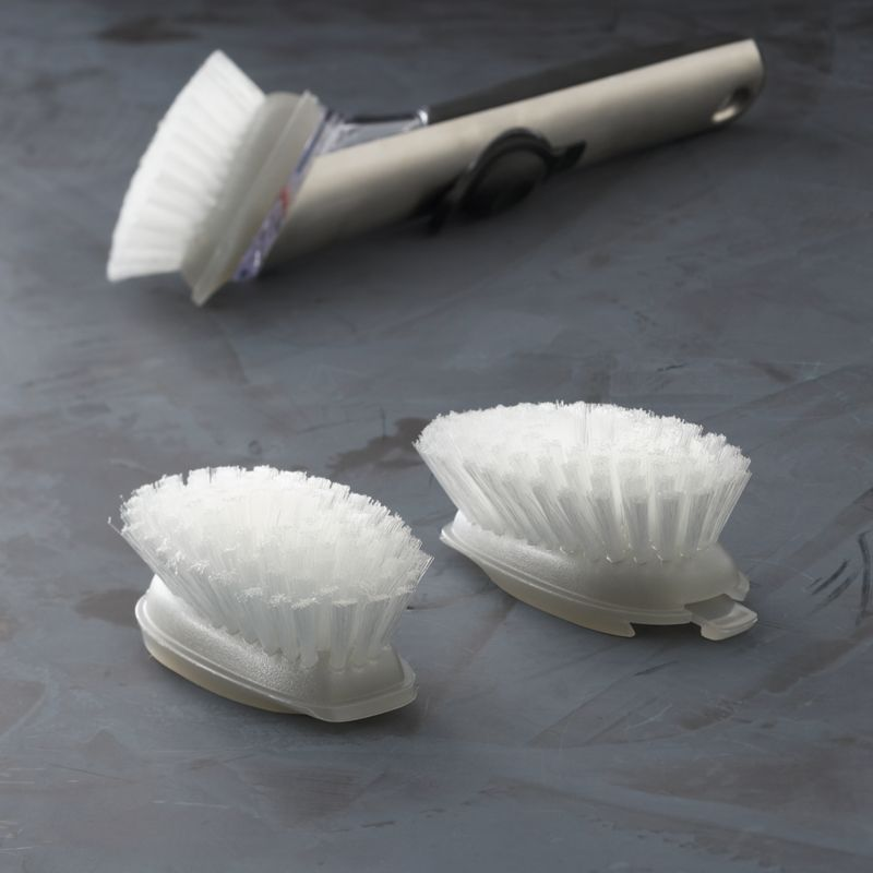 Durable replacement brush heads for the OXO® Soap Dispensing Brush.<br /><br /><NEWTAG/><ul><li>Nylon bristles</li><li>Made in China</li></ul>