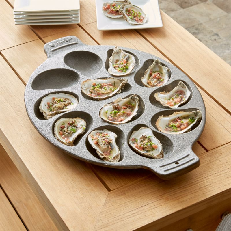 Cast Iron Oyster Grill Pan Crate And Barrel