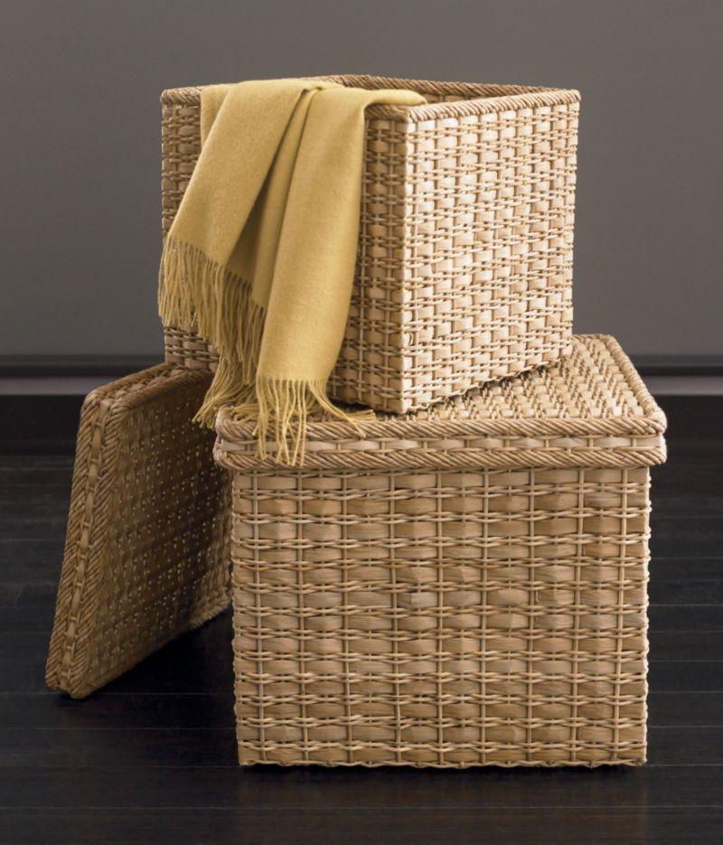 Palma Square Lidded Baskets