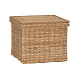 Palma Large Square Lidded Basket