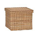 Palma Large Square Lidded Basket