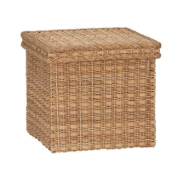 Palma Small Square Lidded Basket