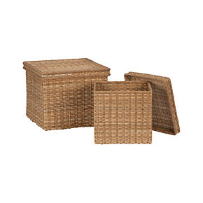 Palma Square Lidded Baskets - Palma Small...