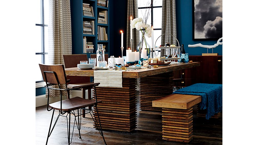 Paloma Ii Reclaimed Wood Dining Table Crate And Barrel