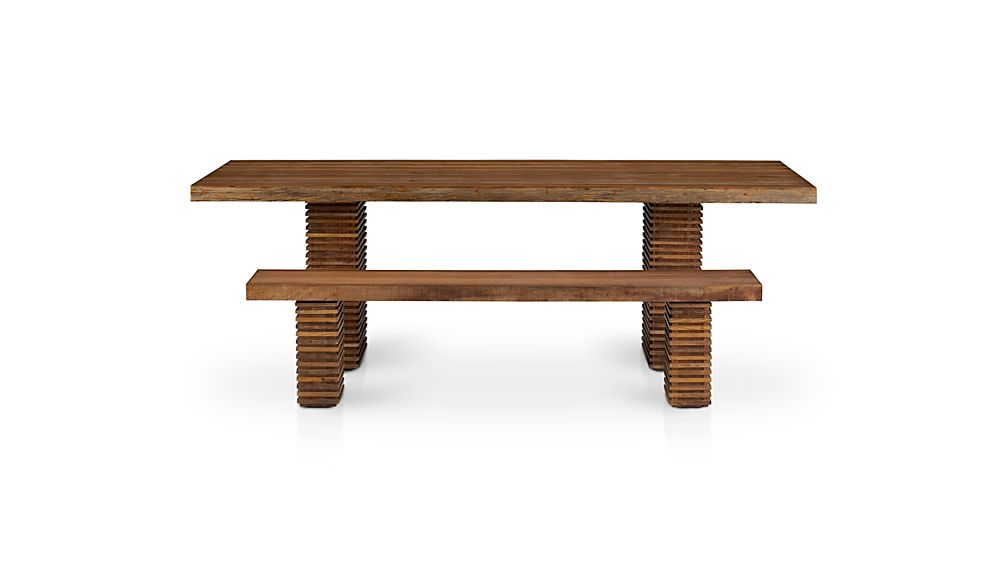 Paloma ii reclaimed wood bench crate and barrel for Wood crate bench