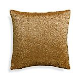 "Panache Gold 12"" Holiday Pillow with Down-Alternative Insert"