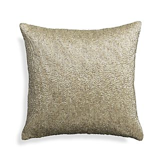 "Panache Silver 12"" Holiday Pillow with Down-Alternative Insert"