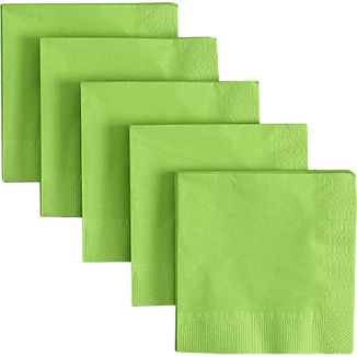 Set of 50 Lime Cocktail Napkins