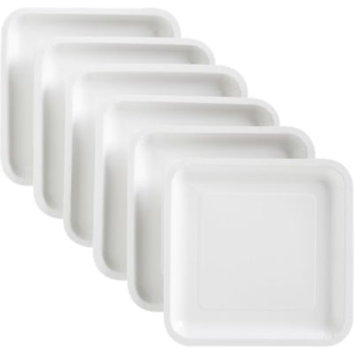 White Deep Paper Plates Set of 18