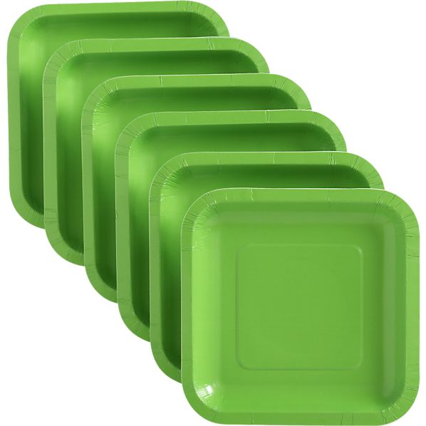 Lime Deep Paper Appetizer Plates Set of 18