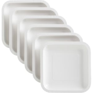 Set of 18 White Deep Paper Plates
