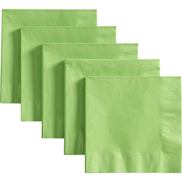 Lime Luncheon Napkins Set of 50