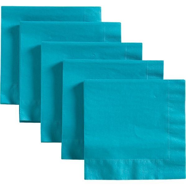 Set of 50 Teal Luncheon Napkins