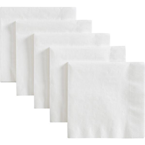 White Luncheon Napkins Set of 50