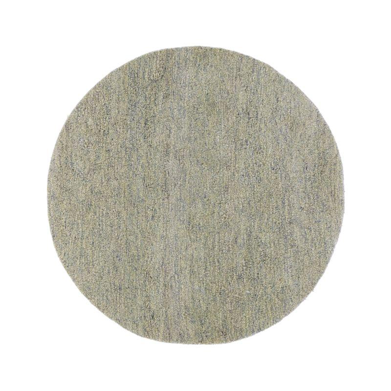 Parker Dove Grey Wool 6' Round Rug