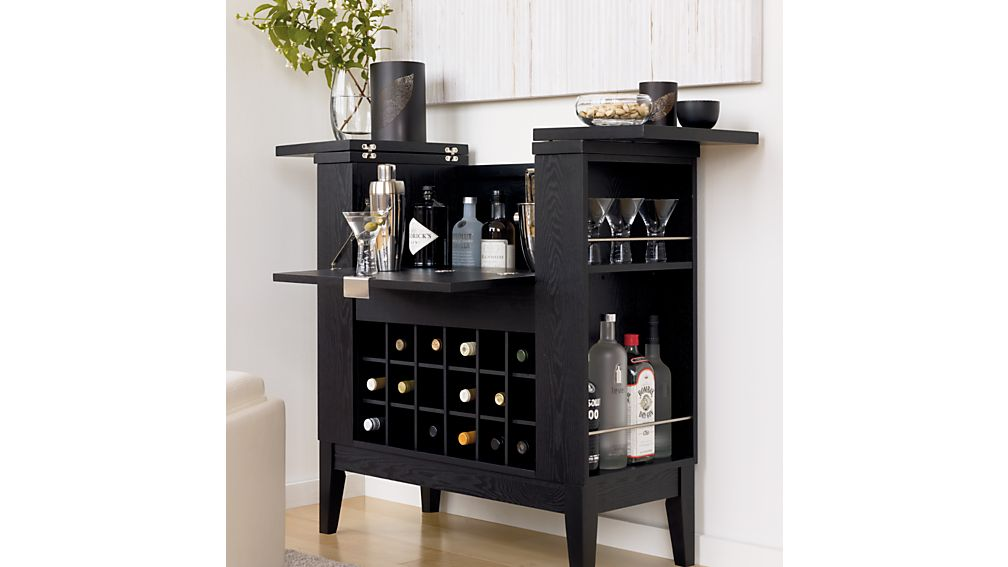 spirits cabinet crate and barrel