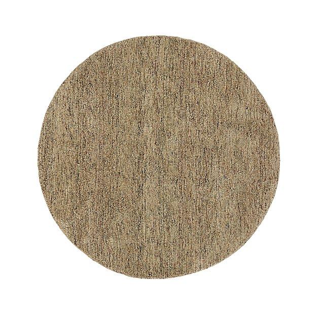 Parker Tea Brown Wool 6' Round Rug