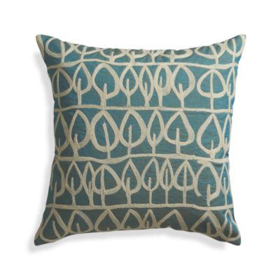 Parrado Teal Pillow with Down-Alternative Insert