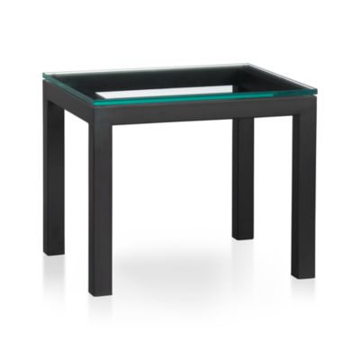 Parsons 20x24 Side Table with Glass Top