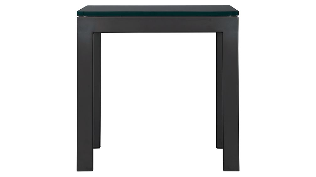 Parsons Side Table with Glass Top