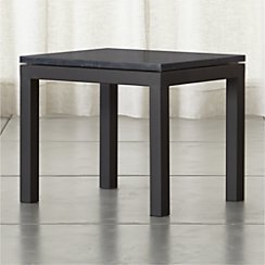 Parsons Side Table with Black Marble Top