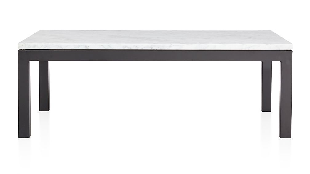 Parsons Glass Top Dark Steel Base 36 Square Coffee Table Crate And Barrel