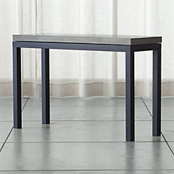 Parsons Console Table With Clear Glass Top Crate And Barrel