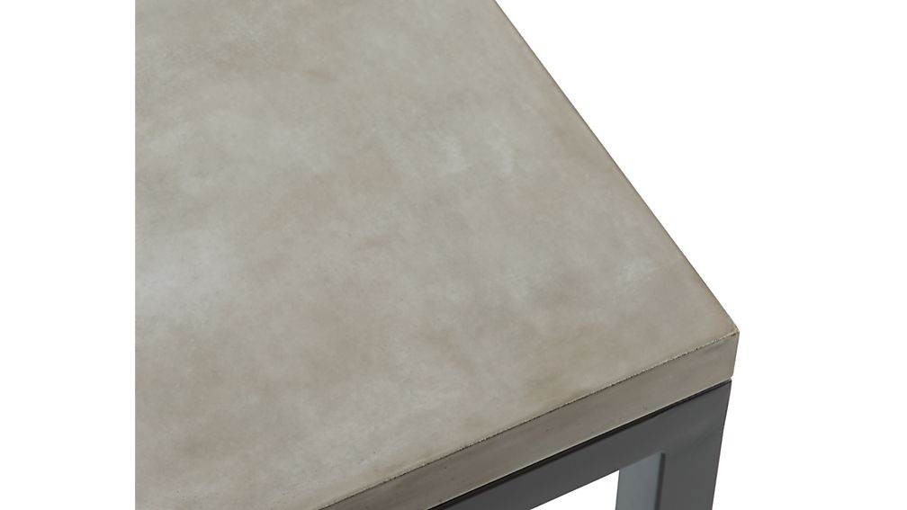 Parsons Dark Steel Side Table with Concrete Top