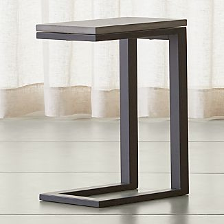 Parsons Dark Steel C Table with Concrete Top