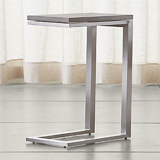 Parsons Stainless Steel C Table with Concrete Top