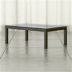 Parsons C Table With Clear Glass Top Crate And Barrel
