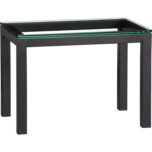Parsons 20x30 Side Table with Clear Glass Top