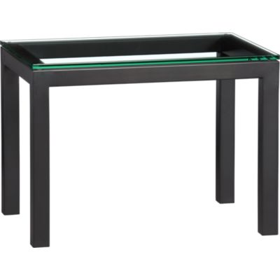 Parsons 20x30 Side Table with Glass Top