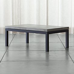 Parsons Rectangular Coffee Table with Concrete Top
