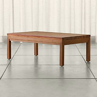 Parsons Small Rectangular Elm Coffee Table with Reclaimed Wood Top