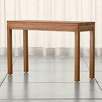Parsons Elm Console Table with Reclaimed Wood Top