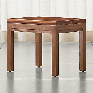 Parsons Elm Side Table with Reclaimed Wood Top
