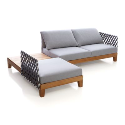Party 3 Seat Sectional with Coffee Table