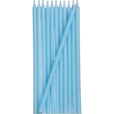 Set of 12 Aqua Party Candles