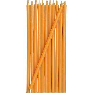 Set of 12 Orange Party Candles