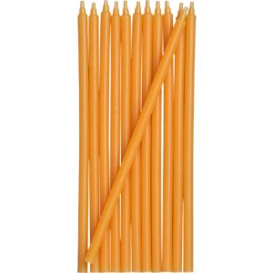 Set of 12 Orange Party Candles