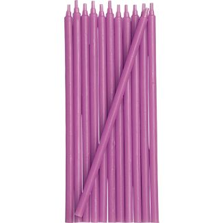 Set of 12 Purple Party Candles